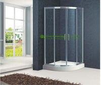 חדר מקלחת אמבטיה מסגרת אלומיניום דלתות דלת חדר אמבטיה הזזה, עיצוב קלאסי פרופיל רצועת דלת מקלחת מגזר