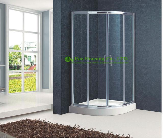Salle de douche cadre en aluminium salle de bains porte coulissante ...