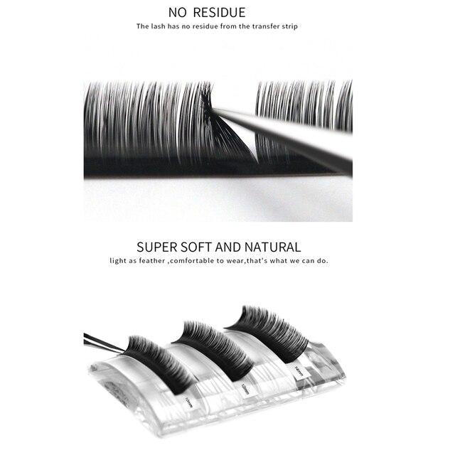 Eyelashes Extension Individual Silk Volume Faux Mink Lash Extension Premium Handmade Eyelash Natural Soft Cilios Lashes Make Up 3