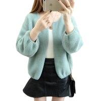 Autumn Women Knitted Sweater Korean Mohair Cardigan Coat Ladies Plus Size Smart Sweaters Long Sleeve Female Cardigan Jacket