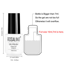 ROSALIND UV Gel Nail Polish Varnish 7ML Soak Off Platinum Series White Bottle Hybrid Nail Manicure Semi Permanent Top Base Coat