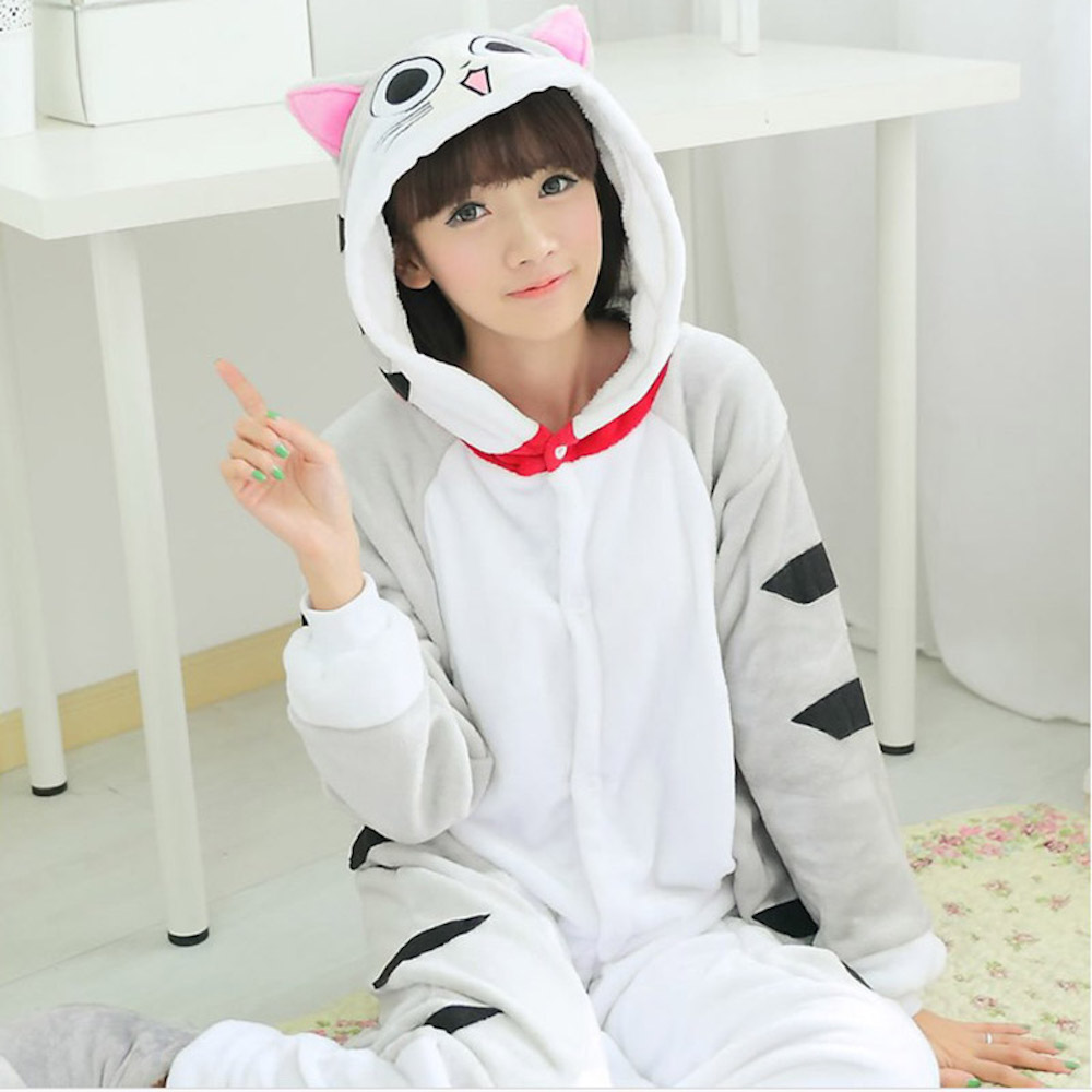 Underwear & Sleepwears Pajama Sets Cute Chis Sweet Home Big Eyes Cat Flannel Onesies Unisex Adults Animal Pajamas Cosplay Pijama Pyjamas Women Sets Sleep Robe Packing Of Nominated Brand