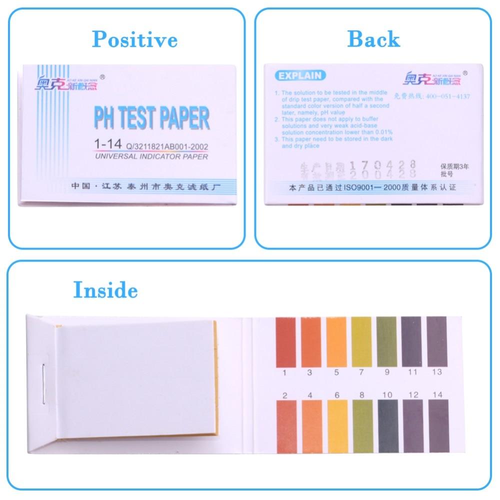 Tools : 100 pcs PH Meters PH Test Strips Indicator Test Strips 1-14 Paper Litmus Tester Brand New Measurement  amp  Analysis Instruments