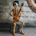 Elétrico de Brinquedo do dia das bruxas Do Crânio Homem Novidade Prank Brinquedos Horror Novidade Brinquedos Engraçados do Dia Das Bruxas Brinquedo Elétrico Homem Crânio