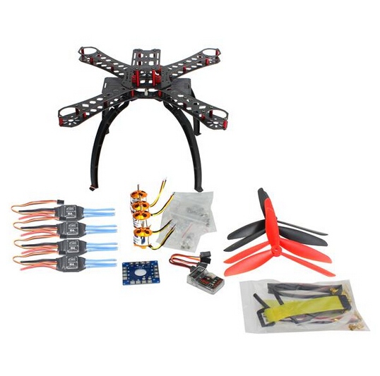 DIY BNF Drone Multicopter Kit 310 mm Fiberglass Frame QQ SUPER Multi-rotor Flight Control 1400KV Motor 30A ESC F14891-E