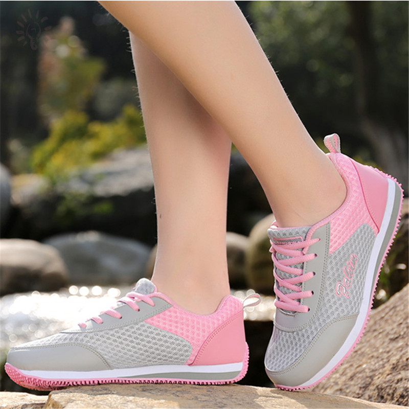 Woman casual shoes Breathable 2018 Sneakers Women New Arrivals Fashion mesh sneakers shoes women instantarts 2018 new fashion women casual flats anatomical hearts pattern air mesh sneakers breathable female flat shoes woman