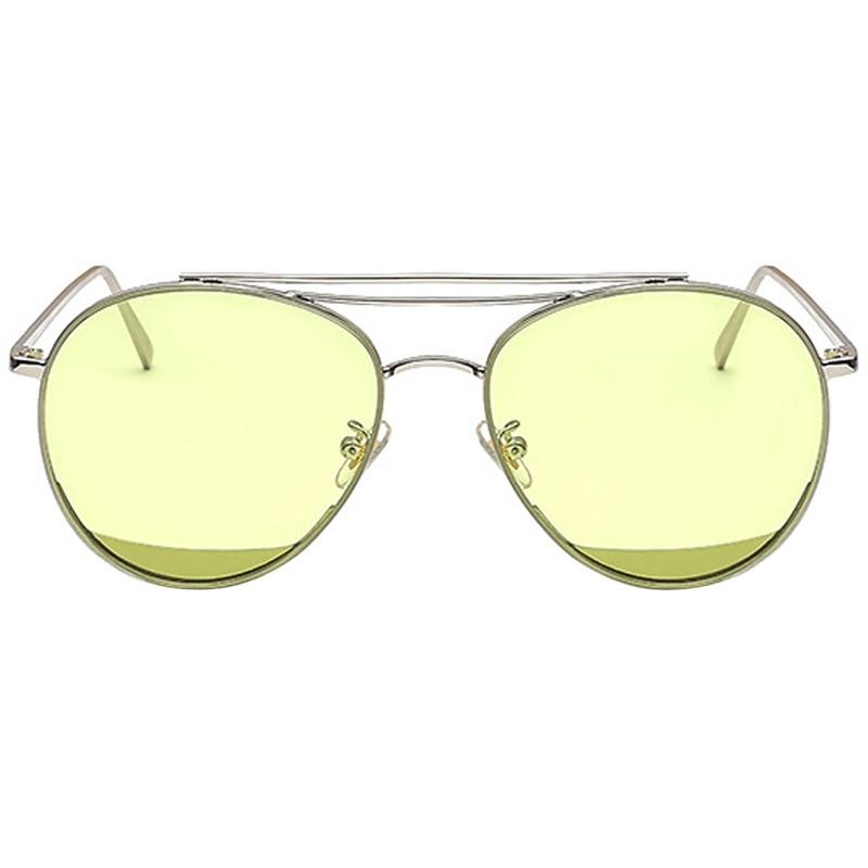 MINAKOLIFE  Candy color Metal Frame Mirrored Sunglasses Round Circle Sun glasses Retro Vintage Sun glasses oculos de sol GL-8521