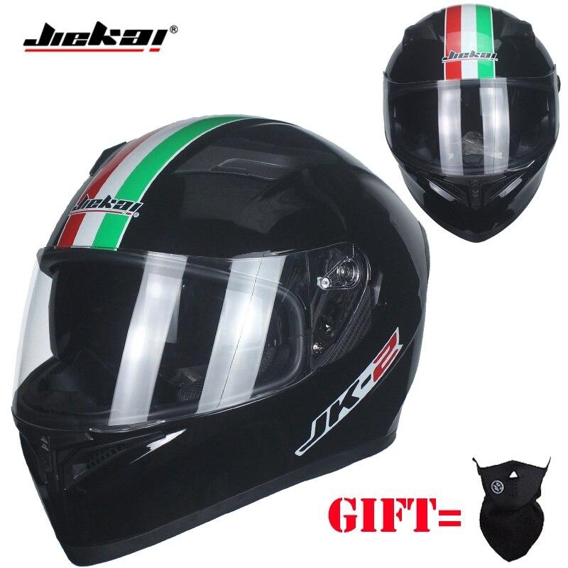 Motorcycle Helmet Fashion Design Full Face Racing Helmets DOT Approved Capacete Casco Casque Moto JIEKAI Htlmet