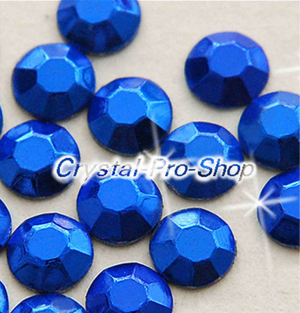 1440 pieces Blue 3mm 10ss ss10 Faceted Hotfix Rhinestuds Iron On Round Beads Aluminium Metal Design Art DIY (u3m-Blue-10 gr)