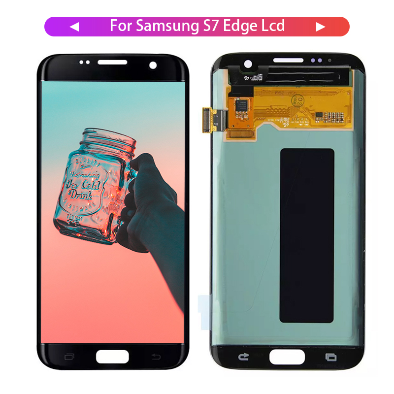100% Tested LCD Display For Samsung S7 edge LCD Display For S7 edge G935 G935F Display LCD Screen Touch Digitizer Assembly