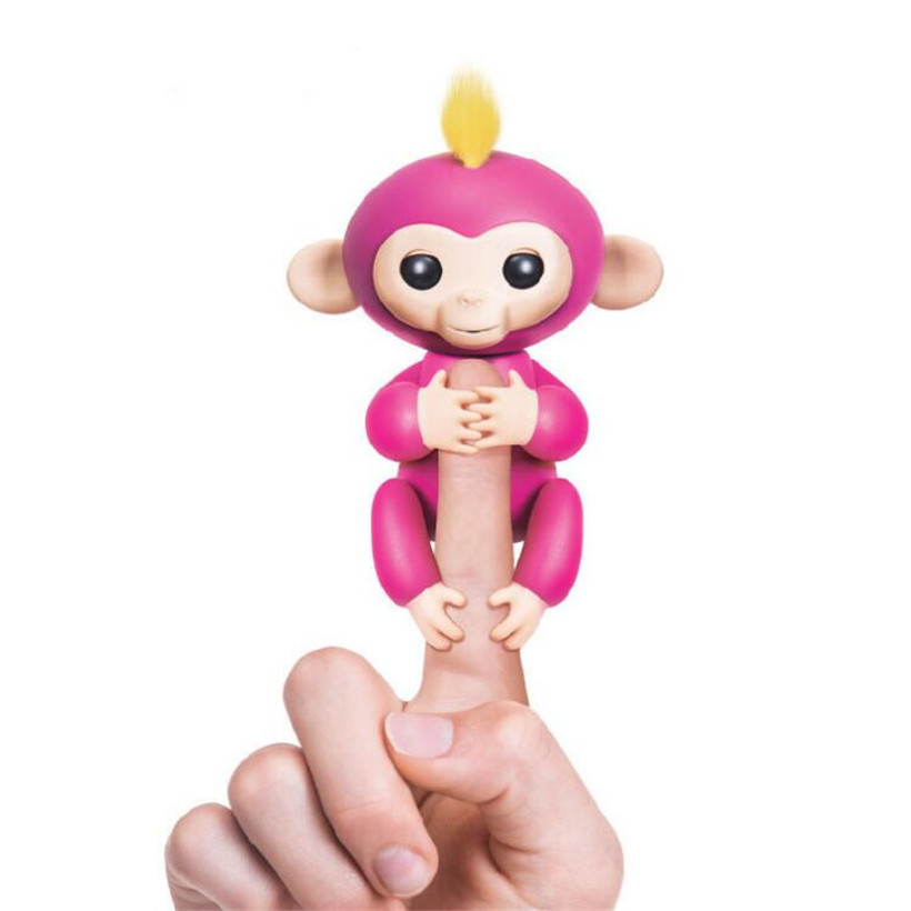 Cute Funny Fingerling Interactive Baby Monkey Smart Colorful Fingers Llings Smart Induction font b Toy b