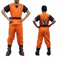 Free Shipping Two Style Adult Men Dragon Ball Z Son Goku Anime Cosplay Costume Tops+Pants+Belt+Wrist guards