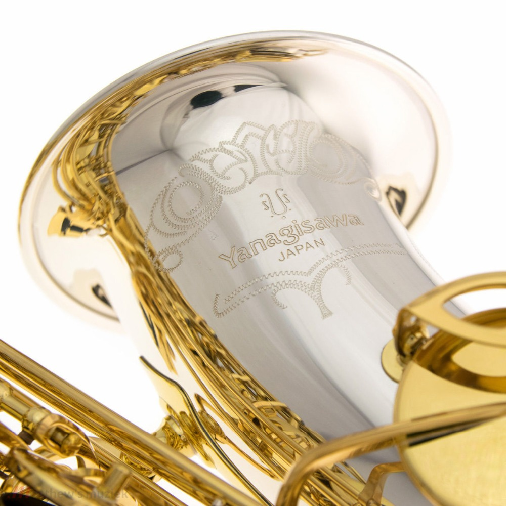 YANAGISAWA Alto Saxophone A-9933 A-W033 Elite Model Silver Neck Bell Sax Professional Mouthpiece Patches Pads Reeds Bend Neck alto sax saxofone bocal de metal mouthpiece bocal patches pads almofadas cap buckle chapeamento de ouro
