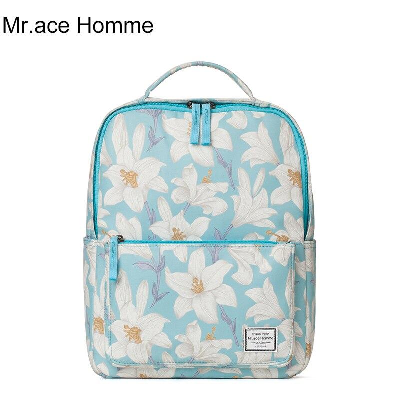 Mr ace Homme 2017 Summer new shoulder bag female Korean fresh school bags for ladies girls