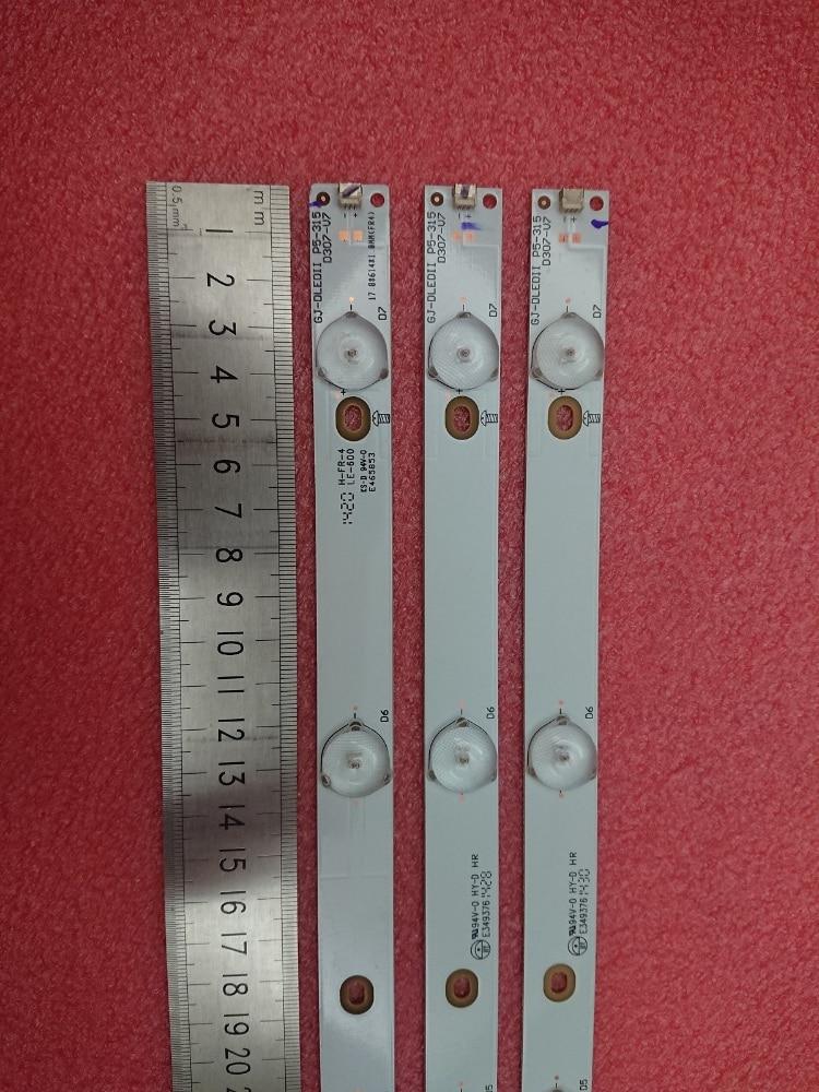 New 5set 15pcs 7LED LED strip for LBM320P0701 FC 2 32PFK4309 TPV TPT315B5 32PFK4309 32PHS5301 TPT315B5