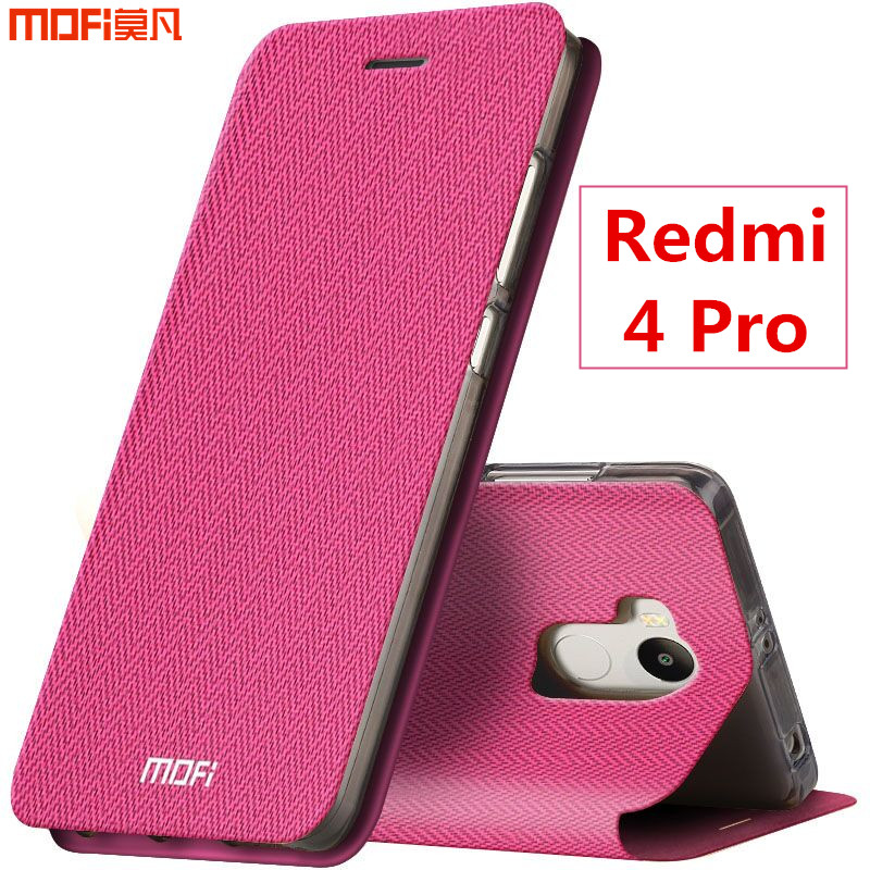 Xiaomi Redmi 4 Pro Case Cover Flip Case Redmi 4 Prime Cover MOFi Original Leather Case