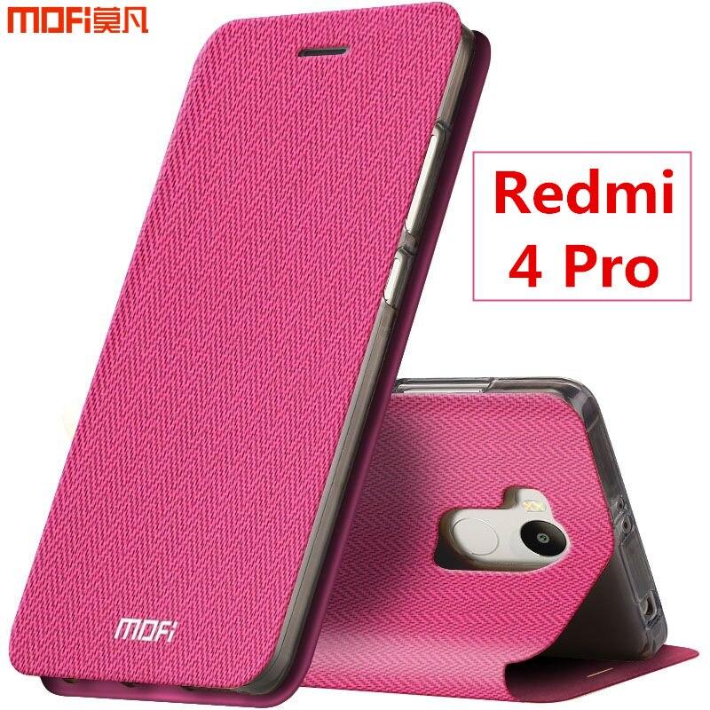 Xiaomi Redmi 4 Pro Case Cover Flip Case Redmi 4 Prime Cover MOFi Original Leather Case