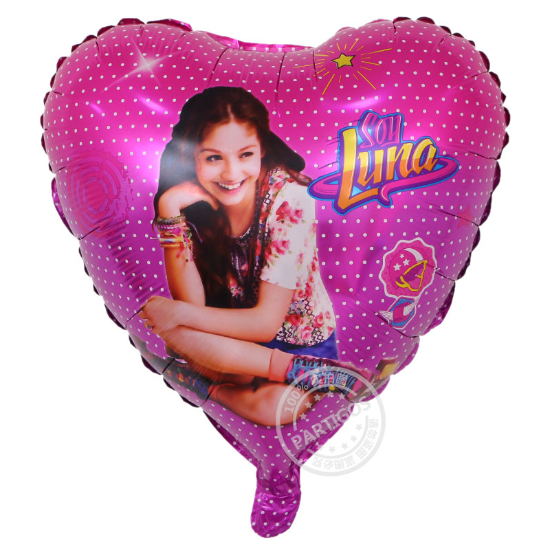 10pcs/lot Soy Luna Girl Foil Balloons 18 inch Baby Girl Birthday Party Decor Princess Luna Air Balloon Supplies Toys