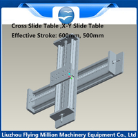 Linear Slide Stage optical axis sliding table module X Y cross slide table effective stroke 500/600mm