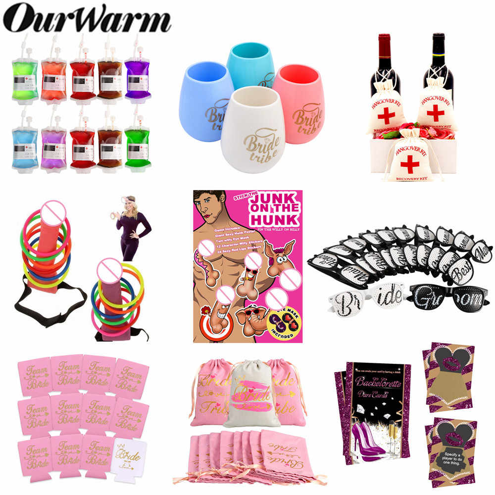 OurWarm девичник для пениса, игра для жениха, бутылка для жениха, чашка, сумки для похмелья, стекло, холостяк, для невесты, для свадебной вечеринки