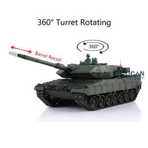 Image 2 - Henglong 1/16 Green 6.0 version infrared combat Leopard2A6 RC Tank 3889 Barrel Recoil Metal Track Rubber TH12771