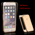 Transparent Full Coverage Case for iPhone 6 6S 7 6 7 Plus 6S Plus 360 Degree Front Back Protective Soft TPU Clear Cover