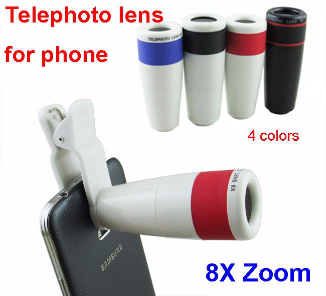 New-8x-telephoto-telescope-Shimmer-focus-Lens-Universal-Clip-for-iPhone-6-5S-Samsung-Galaxy-S6