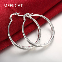 Round Design Creole Big Hoop Earrings for Women Silver Plated Round Earring European Brand Fashion Jewelry Gift 2017
