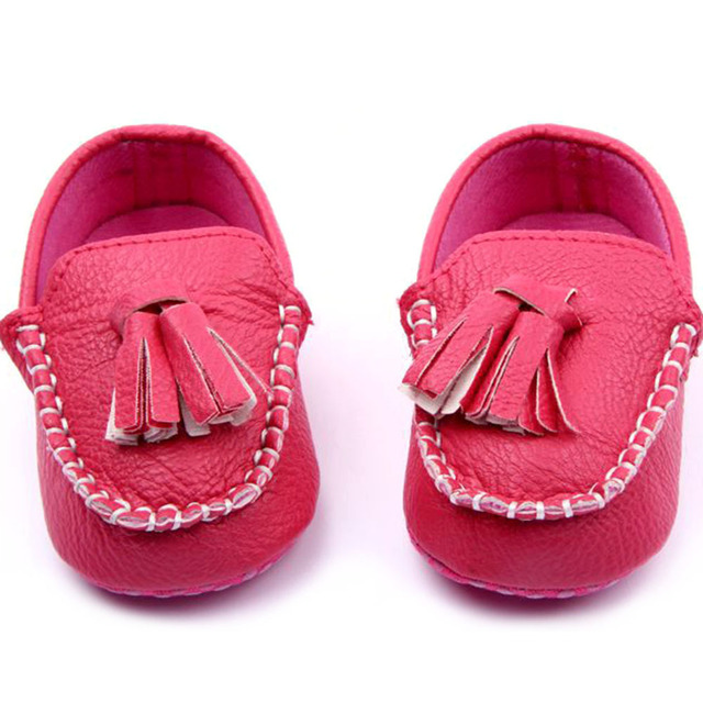 1164f1609a5 Baby Toddler Girls Boys Loafers Soft Faux Leather Flat Slip-on Crib Shoes 0-12M  New Baby Shoes