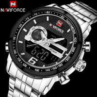 NAVIFORCE Watches Men S Quartz Luxury Brand Full Steel Watch Men Army Military Sport Watch Digital