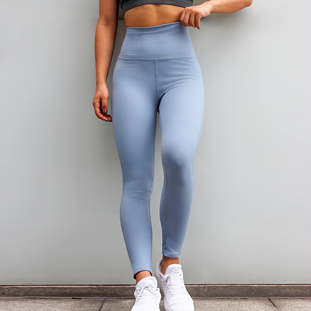 Women Squat Proof Booty Sexy Slim Capris Fitness Workout Yogaing Gyms Pant Purple Butt High Waisted Light Blue Casual Leggings