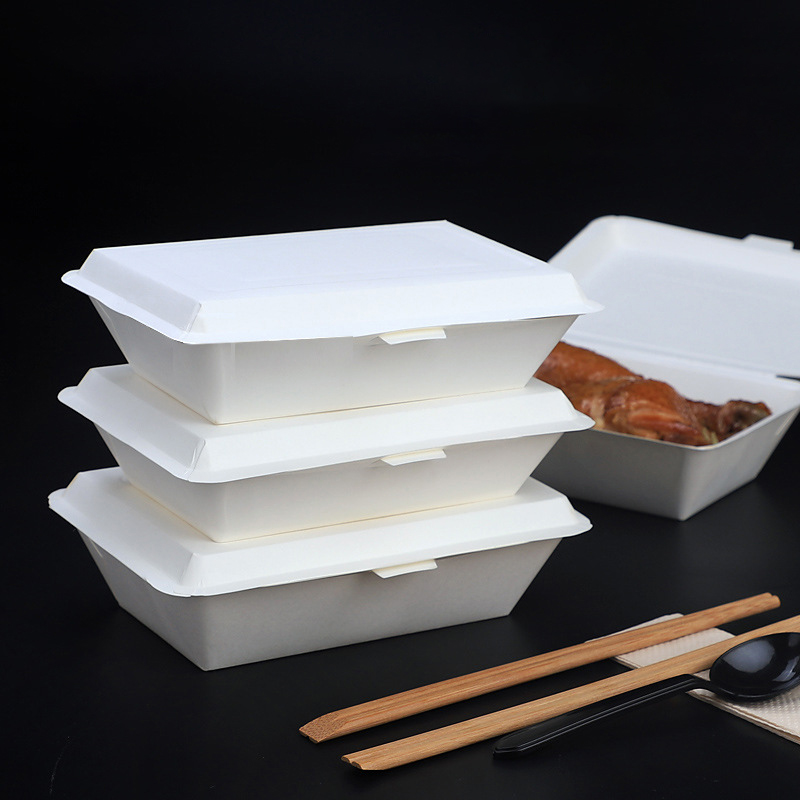 Disposable Packing Box Party No-Clean Food Cases Fast Food Containers Restaurant Packaging Box Takeaway Wrapping Tool Kithenware