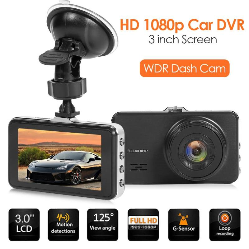 VODOOL Car DVR Driving-Recorder Dashboard-Camera 3inch-Screen 1080p WDR HD SE021 Zinc-Alloy