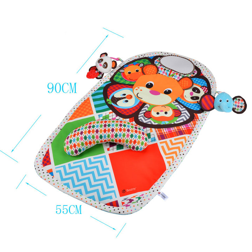 Baby Activity Mat Crawling Mat Play Mat Pad Teether Animals Panda Elephant Waterproof Early Education Baby Toys gift 2