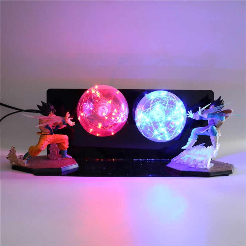 2018 Novos Produtos Anime Modelo Criativo DIY Lâmpada LED de Ação Brinquedos De Dragon Ball Z figuras Quarto Luz Da Noite Para As Crianças luzes