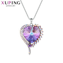 11.11 Deals Xuping Jewelry Romantic Pendant Colorful Crystals from Swarovski Elegant Necklace for Women Valentine's Day 40149(China)