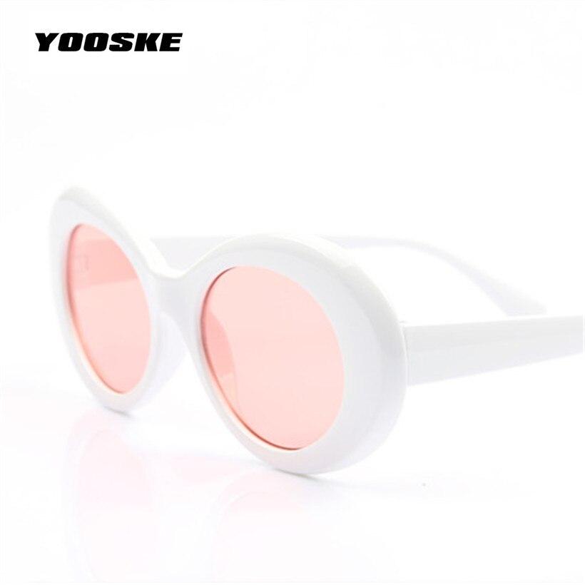 de051da3dac Clout Goggles Kurt Cobain Sunglasses Transparent Clear Lenses Glasses  Vintage NIRVANA Oval Eyewear Fashion Classic Sun Glasses. В избранное.  gallery image