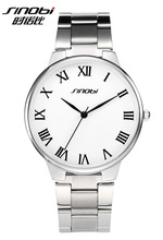 Sinobi Relojes hombres marca de lujo completa Steel Business reloj de cuarzo amor de reloj militar impermeable Relojes de pulsera Relojes
