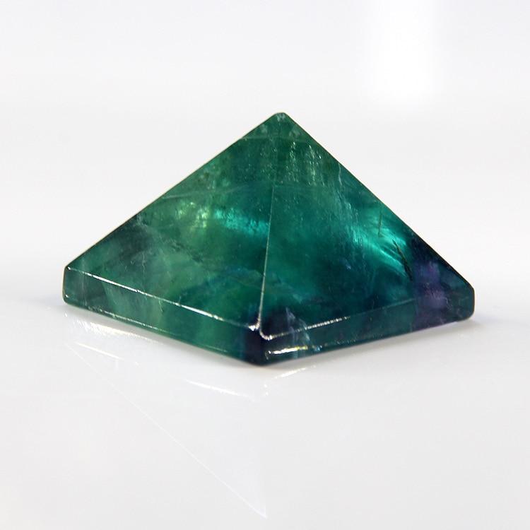 2015 Natural Piramide de cristal purpuriu fluorit punct clorofan piramidă pandantiv 32mm * 32mm transport gratuit en-gros en-gros