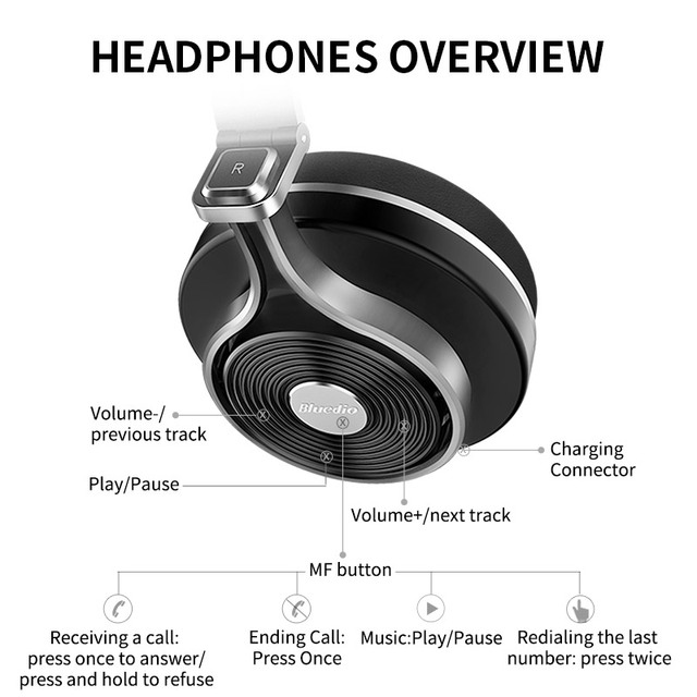 with Bluetooth 4.1 Stereo and microphone for music wireless headphone Bluedio T3  Wireless  bluetooth Headphones/headset