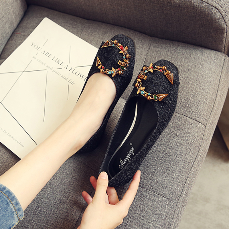 Sandales Dames Taille Peu Profonde Gris Faible Femme Mujer Bling Diapositives Plus Talon Appartements Mode Zapatos Black Chaussures La 2018 grey Rhineston Noir TS6qx0