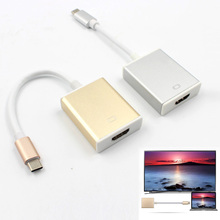 USB 3.1 Type C to HDMI 4K HDTV Digital Adapter Cable Gold Silver Colors Approx 13cm Length Converter Cable for Macbook