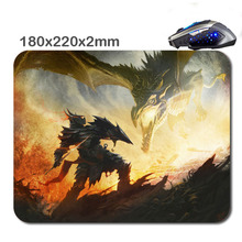 DIY Print Custom knight vs dragon Non-Slip Durable Computer Laptop Gaming Rubber soft Mouse Pad in 220*180*2 Mm As office Gift