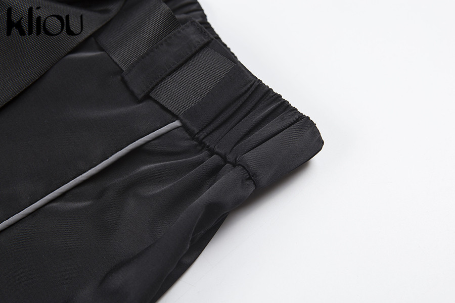HTB1RfQSaojrK1RkHFNRq6ySvpXal - Kliou women fashion street Reflective patchwork cargo pants 2019 new arrival zipper fly with sashes pockets knitted trousers