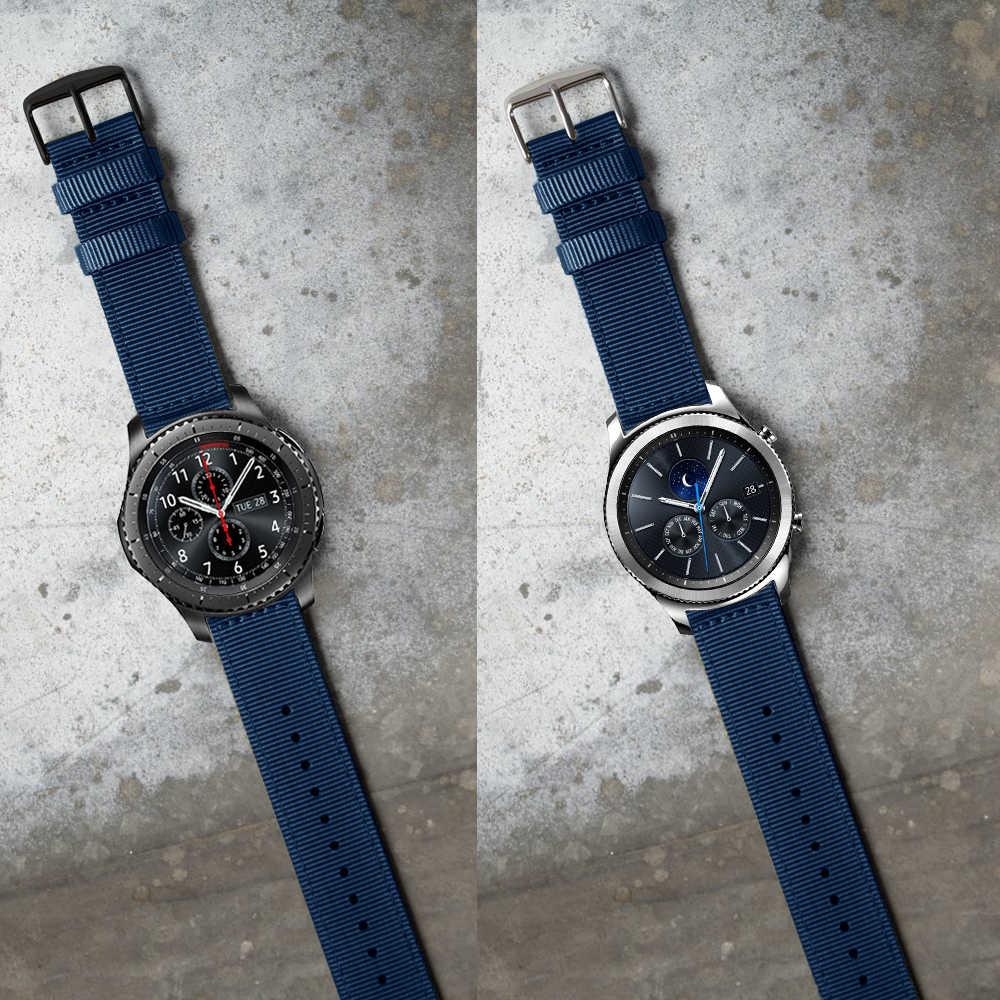 مقاوم للماء النايلون الملونة حزام لسامسونج جير S3 الفرقة الحدود حزام ل Gear S3 الكلاسيكية حزام الساعات 22 مللي متر سوار ساعة ذكية