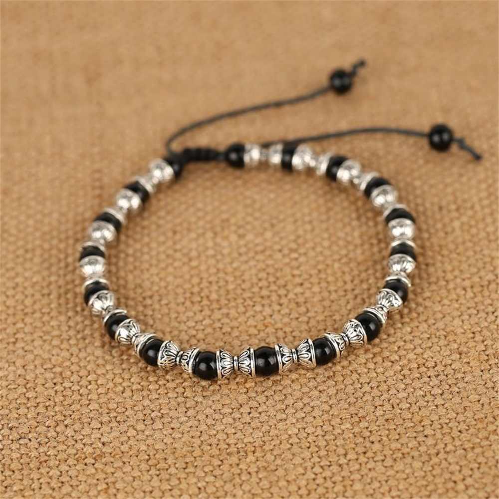 Zroszony bransoletka z kostki mężczyźni stopy biżuteria akcesoria regulowana długość bransoletka Lleg męskie modne obrączki