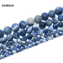 Free Shipping Natural Stone Blue Sodalite Gem Round Loose Beads For Jewelry Making DIY Bracelet Necklace 4 6 8 10 12 MM Strand 8 9mm freefom chrysoprase stone beads natural gem stone beads diy spacer beads for jewelry making strand 15 free shipping