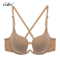 COLLEER Sexy BH Push Up Bra Set Underwear Women Lace Bralette Bra Thin D Cup Transparent
