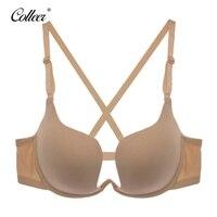COLLEER Sexy BH Push Up Bra Set Underwear Women Lace Bralette Bra Thin D Cup Transparent