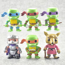 Funko POP 6PC / Brother Set TMNT Action Figure Toy Cartoon Digital Collection Model Birthday Gift Toys